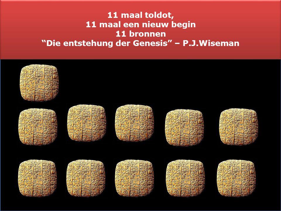 Die entstehung der Genesis – P.J.Wiseman