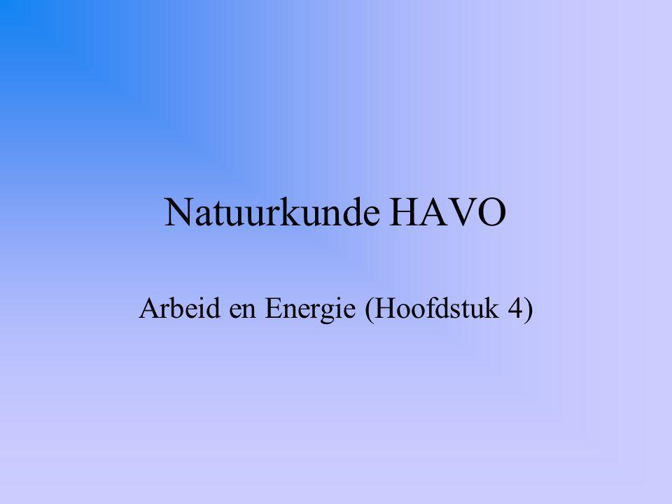 Arbeid en Energie (Hoofdstuk 4)