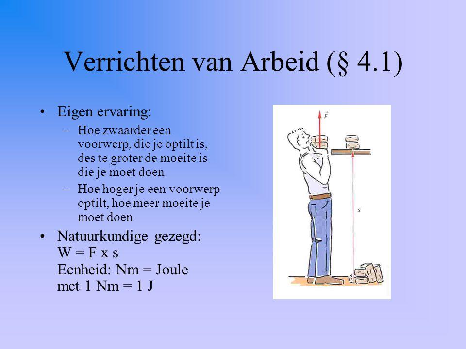 Verrichten van Arbeid (§ 4.1)