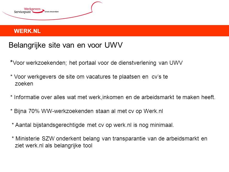 Belangrijke site van en voor UWV
