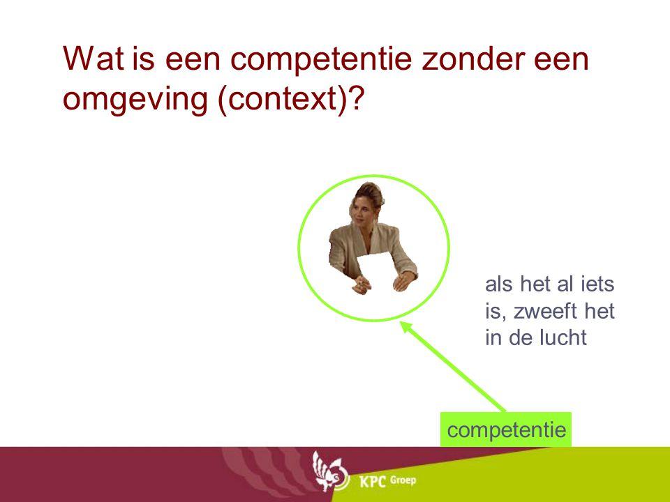 Wat is een competentie zonder een omgeving (context)