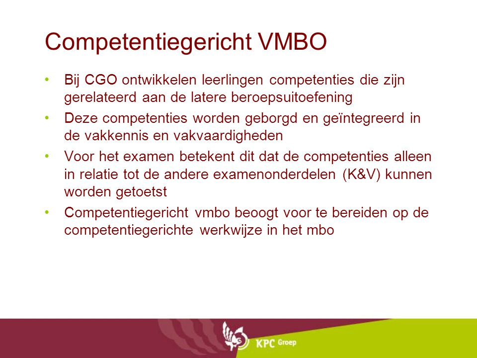 Competentiegericht VMBO