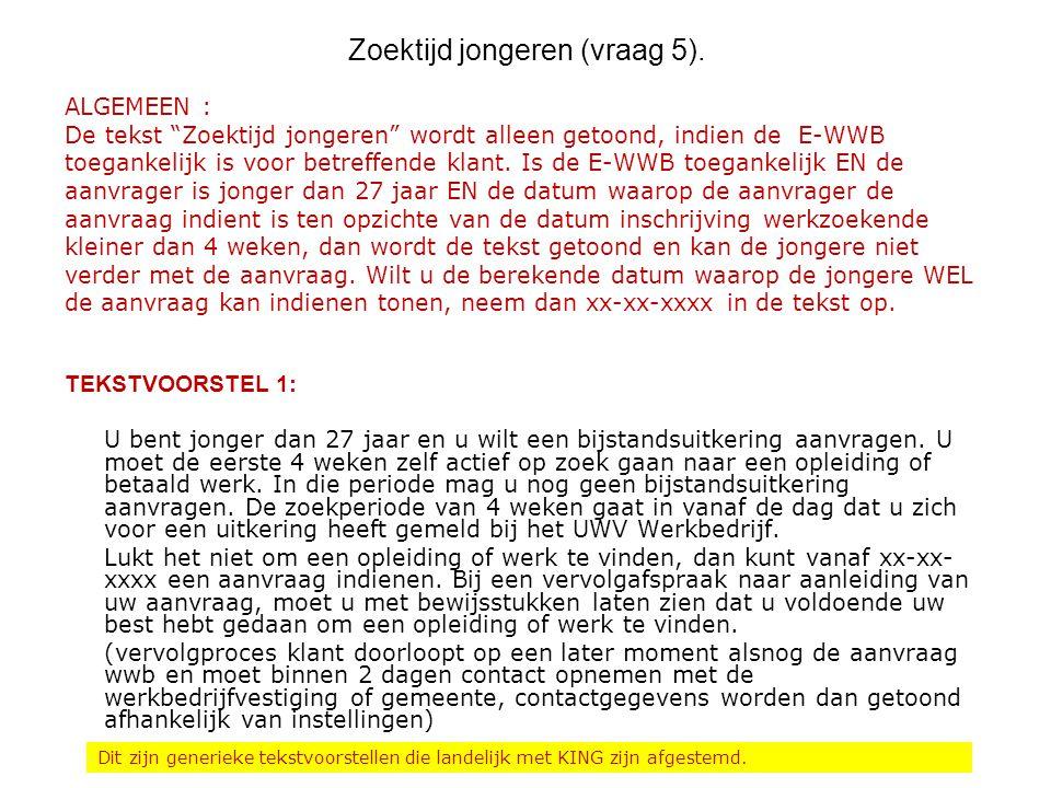Zoektijd jongeren (vraag 5).