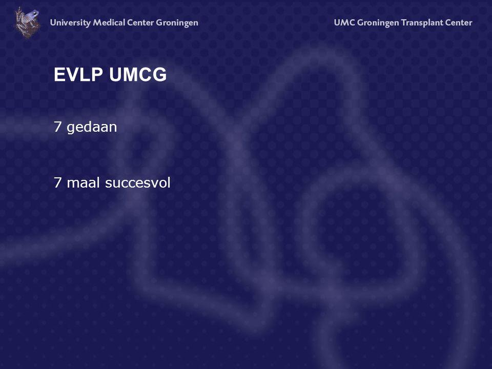 EVLP UMCG 7 gedaan 7 maal succesvol