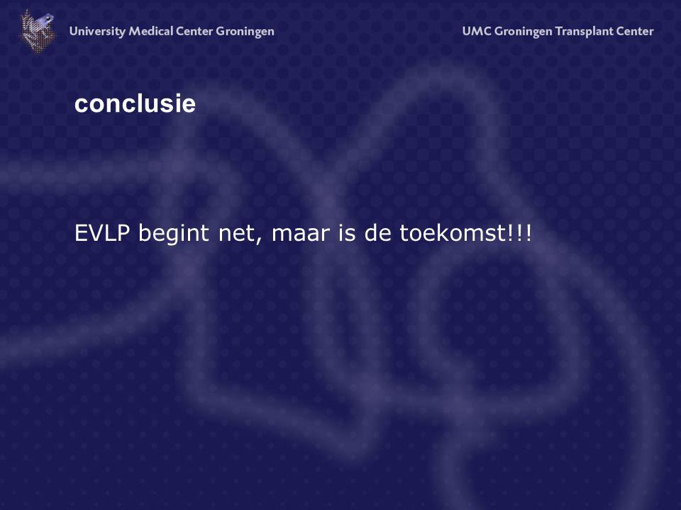 conclusie EVLP begint net, maar is de toekomst!!!
