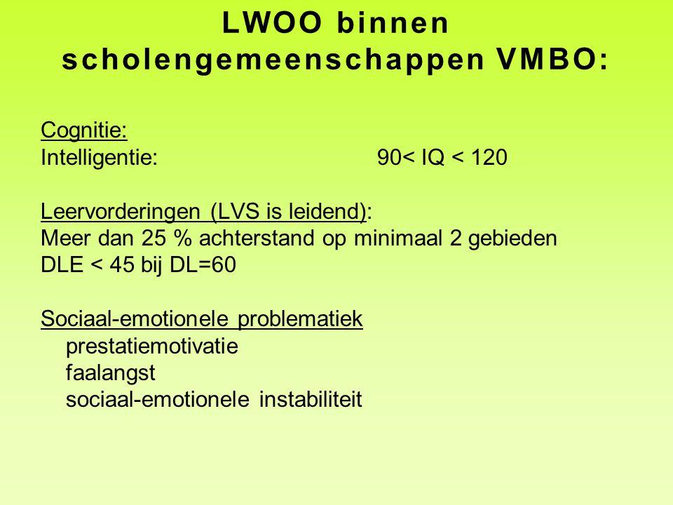 LWOO binnen scholengemeenschappen VMBO: