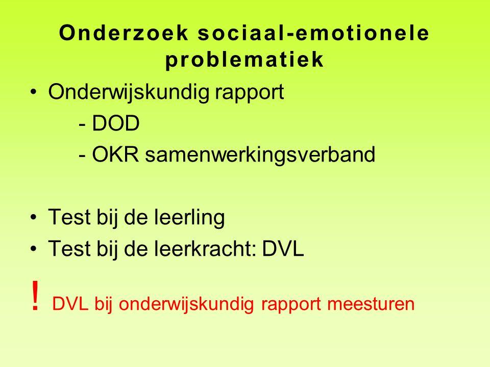 Onderzoek sociaal-emotionele problematiek