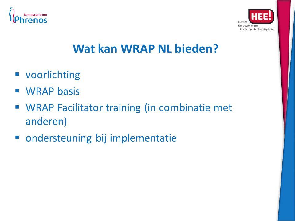 Wat kan WRAP NL bieden voorlichting WRAP basis