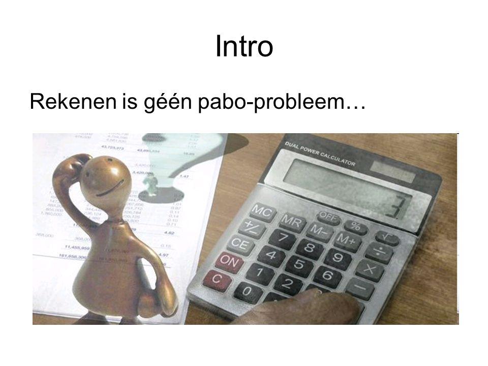 Intro Rekenen is géén pabo-probleem…