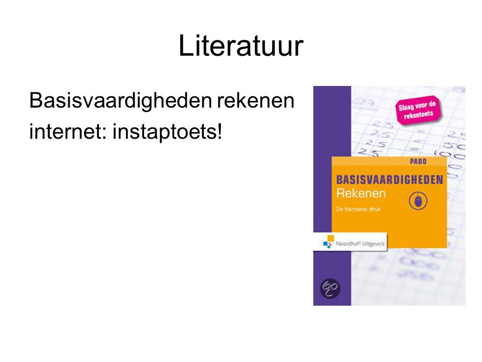 Literatuur Basisvaardigheden rekenen internet: instaptoets!