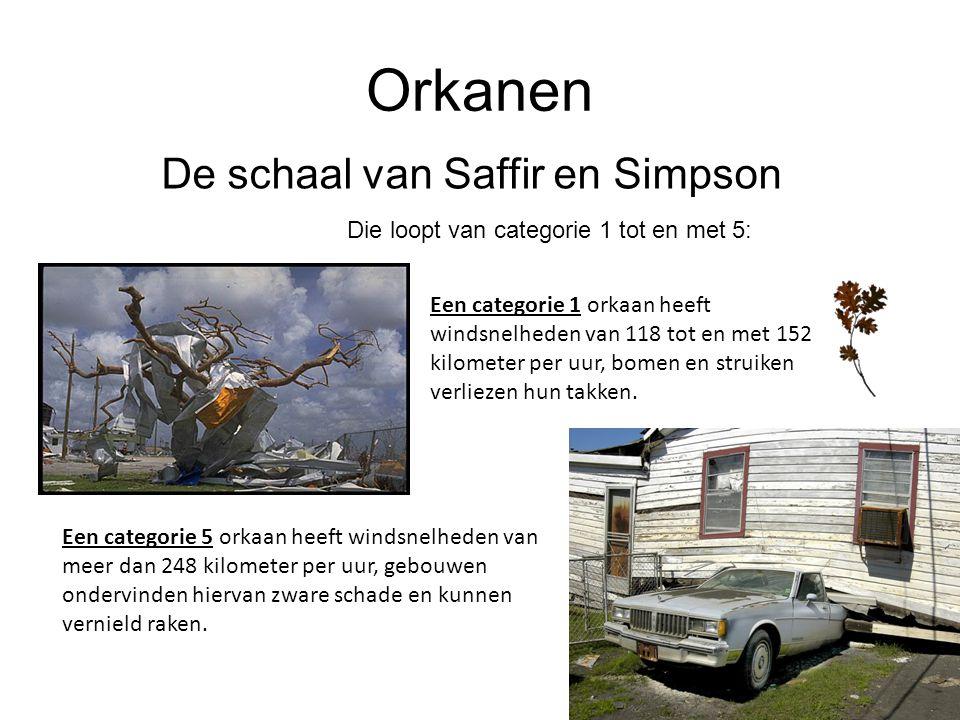 De schaal van Saffir en Simpson