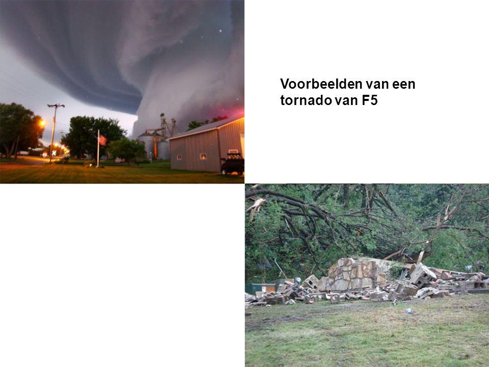 Voorbeelden van een tornado van F5