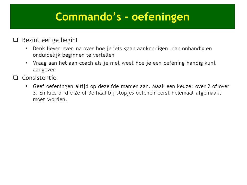Commando's - oefeningen