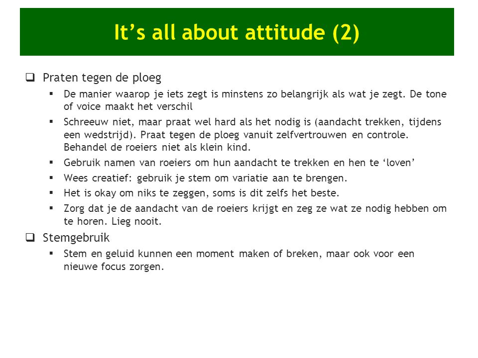 It's all about attitude (2)