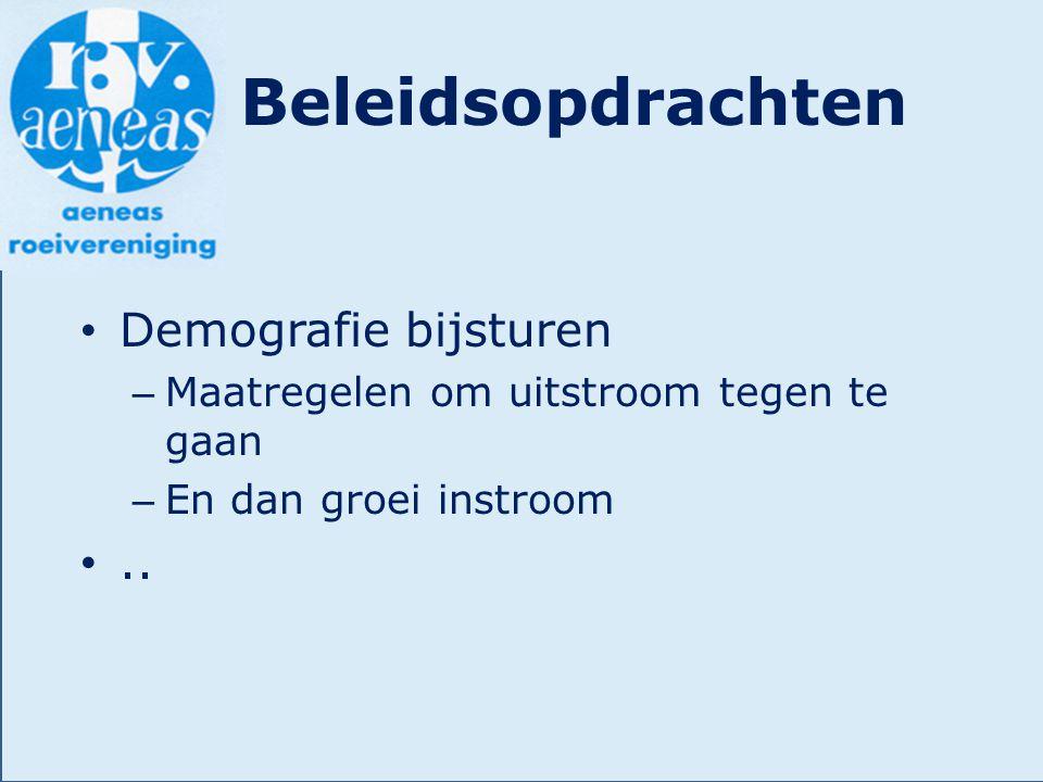 Beleidsopdrachten Demografie bijsturen ..
