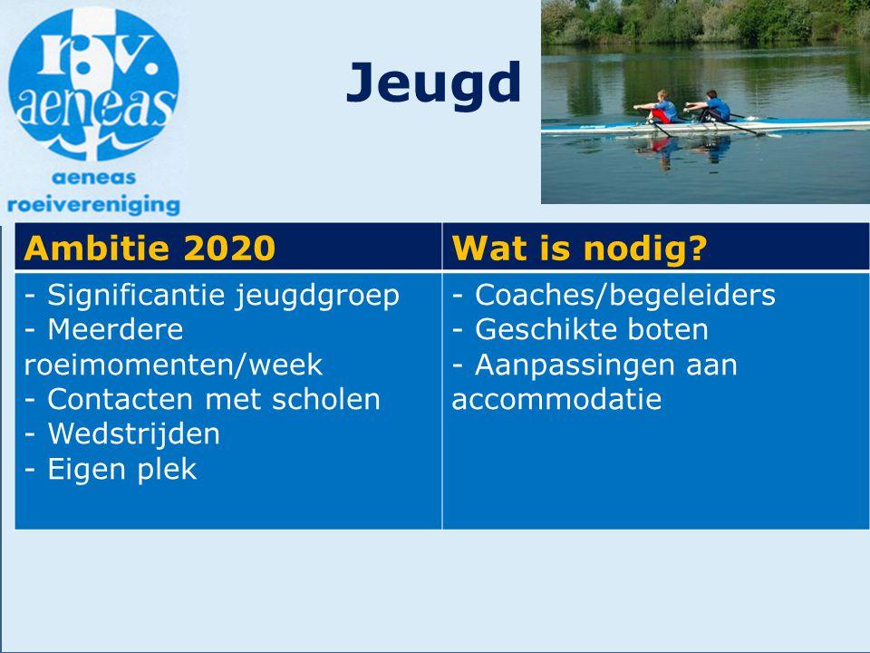 Jeugd Ambitie 2020 Wat is nodig - Significantie jeugdgroep