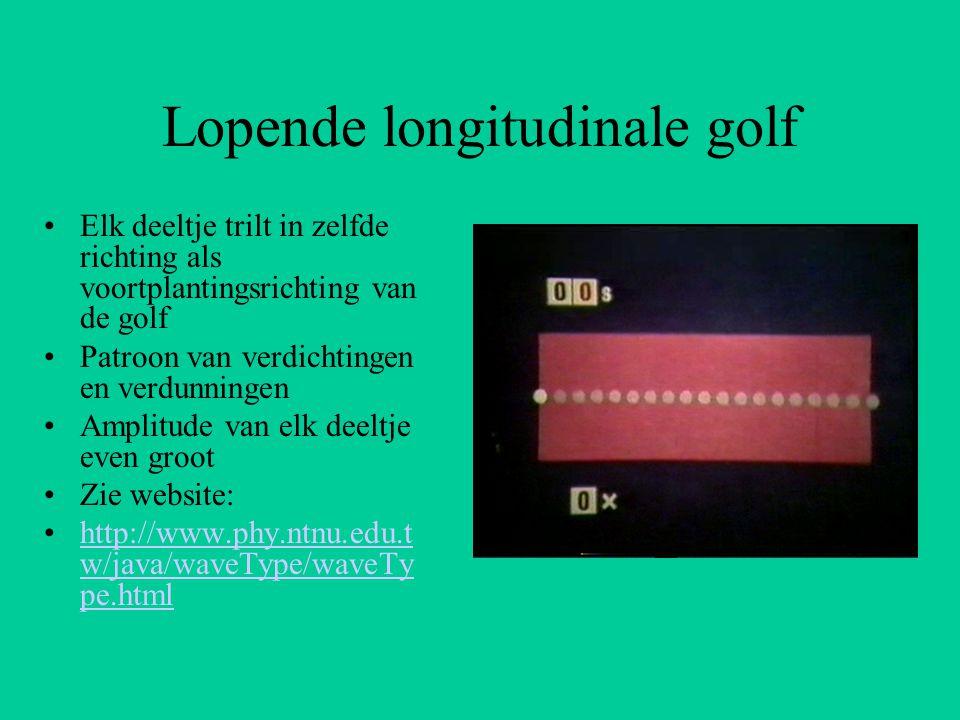 Lopende longitudinale golf