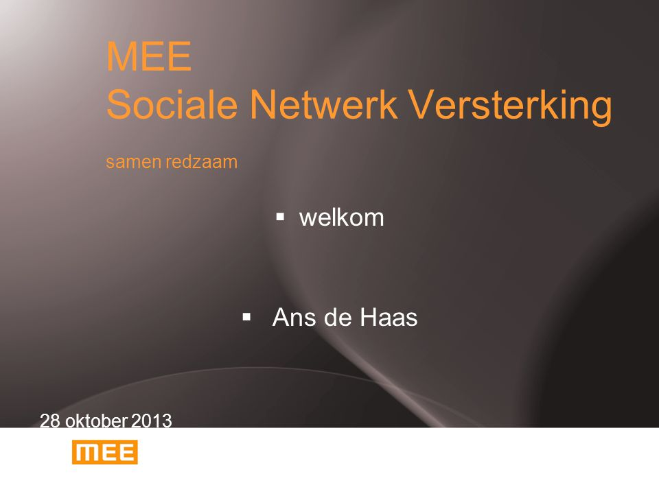 MEE Sociale Netwerk Versterking samen redzaam