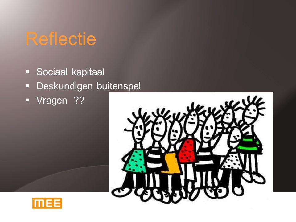 Reflectie Sociaal kapitaal Deskundigen buitenspel Vragen
