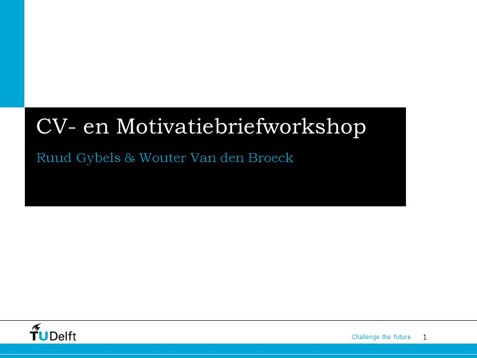 CV- en Motivatiebriefworkshop