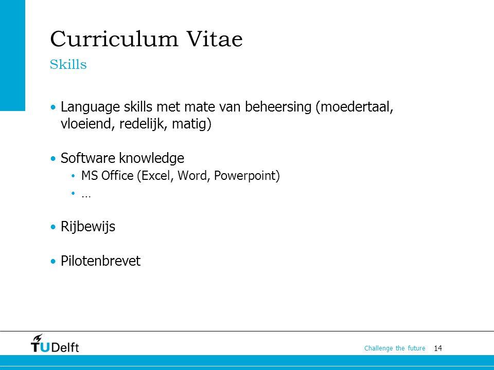 Curriculum Vitae Skills