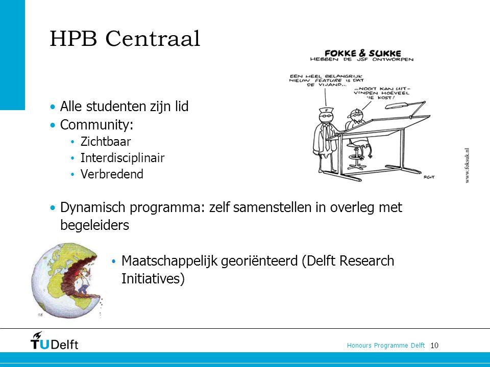 HPB Centraal Alle studenten zijn lid Community: