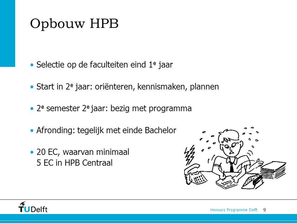 Opbouw HPB Selectie op de faculteiten eind 1e jaar