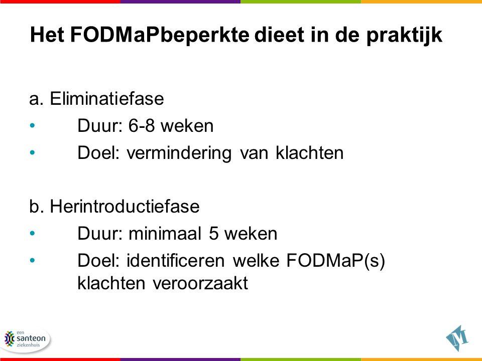 Het FODMaPbeperkte dieet in de praktijk