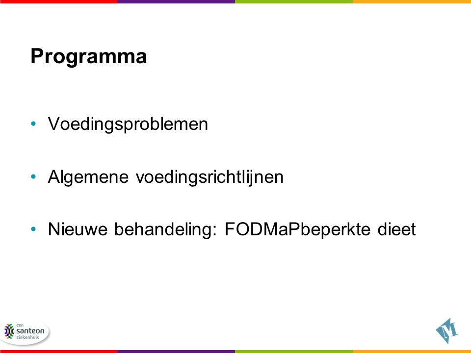 Programma Voedingsproblemen Algemene voedingsrichtlijnen
