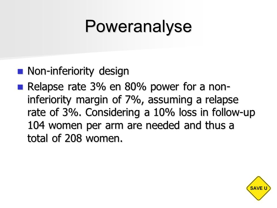 Poweranalyse Non-inferiority design