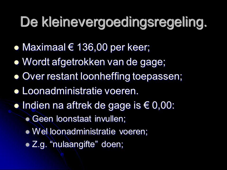 De kleinevergoedingsregeling.
