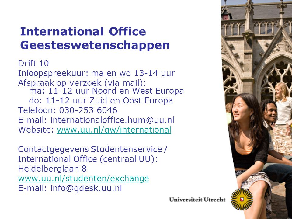 International Office Geesteswetenschappen