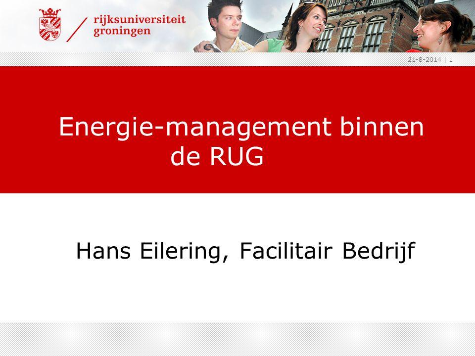 Energie-management binnen de RUG