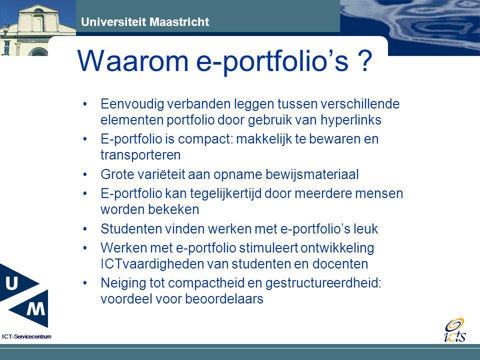 Waarom e-portfolio's Eenvoudig verbanden leggen tussen verschillende elementen portfolio door gebruik van hyperlinks.
