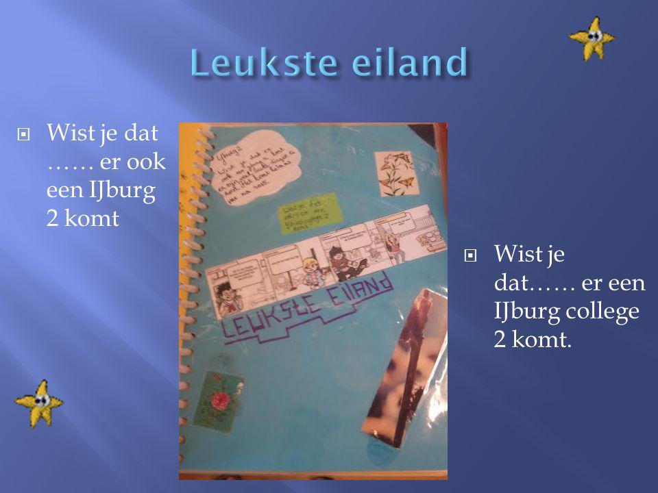 Leukste eiland Wist je dat …… er ook een IJburg 2 komt
