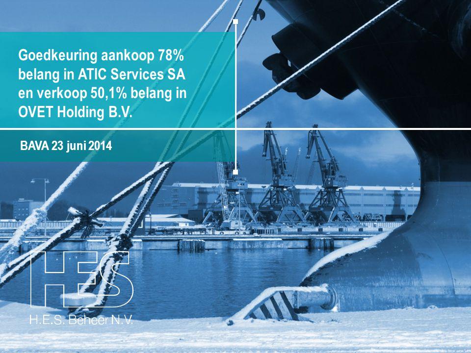 belang in ATIC Services SA en verkoop 50,1% belang in