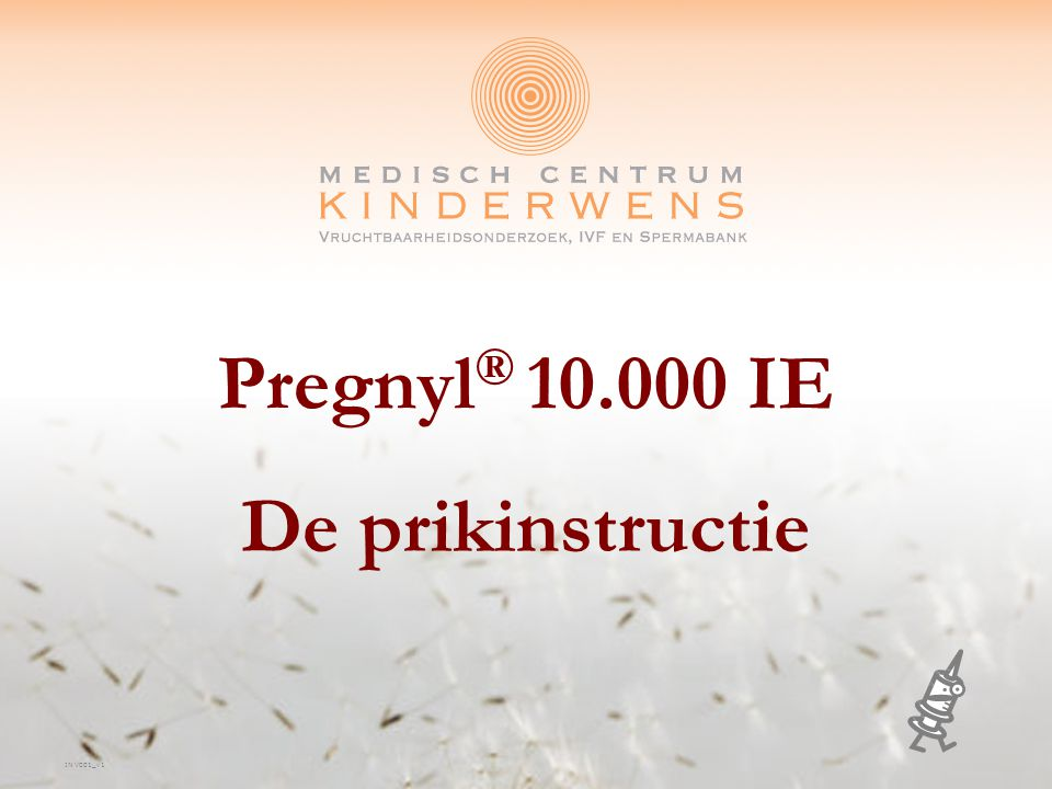 Pregnyl® 10.000 IE De prikinstructie