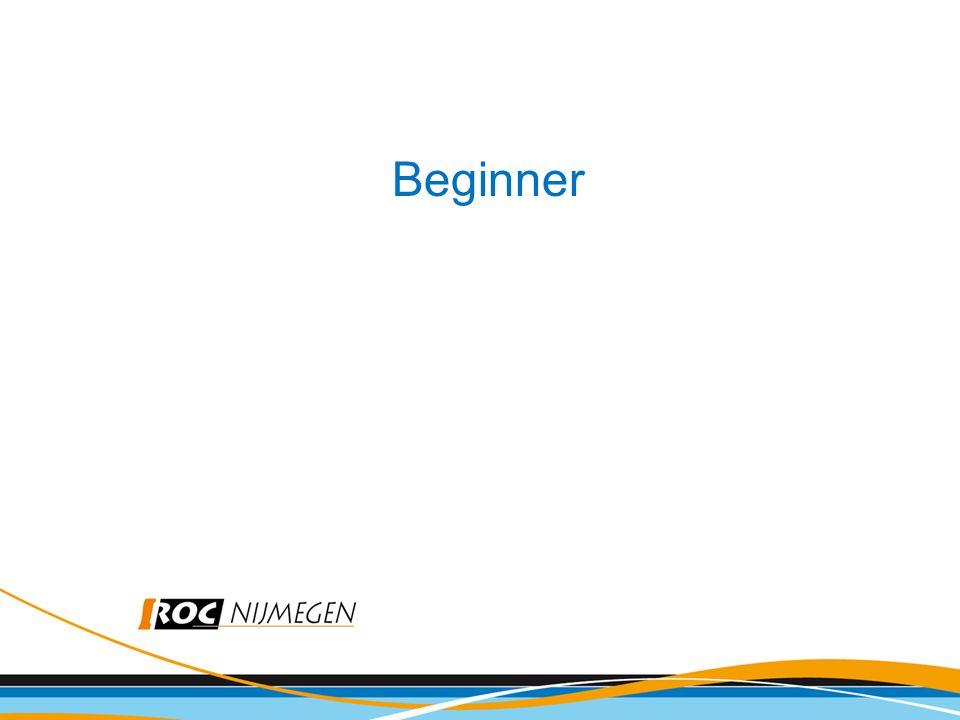 Beginner BPV-periode 1: Beginner
