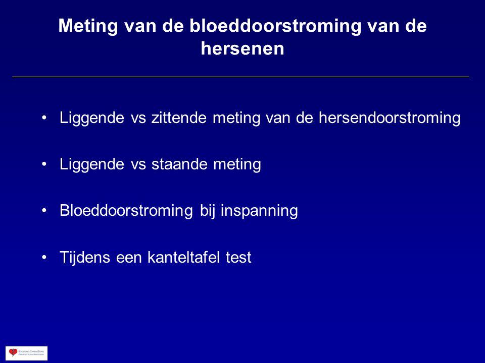 Meting van de bloeddoorstroming van de hersenen