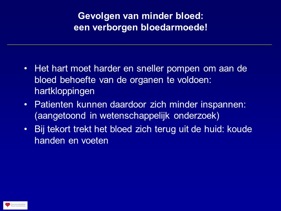 Gevolgen van minder bloed: een verborgen bloedarmoede!