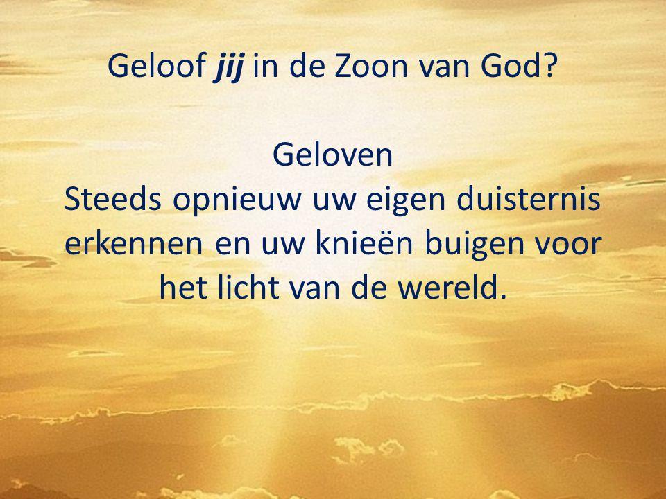 Geloof jij in de Zoon van God
