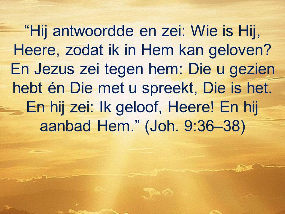 Hij antwoordde en zei: Wie is Hij, Heere, zodat ik in Hem kan geloven