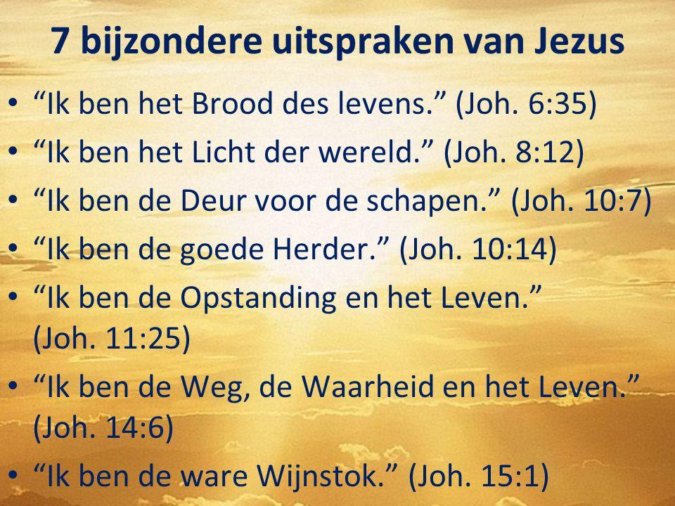7 bijzondere uitspraken van Jezus