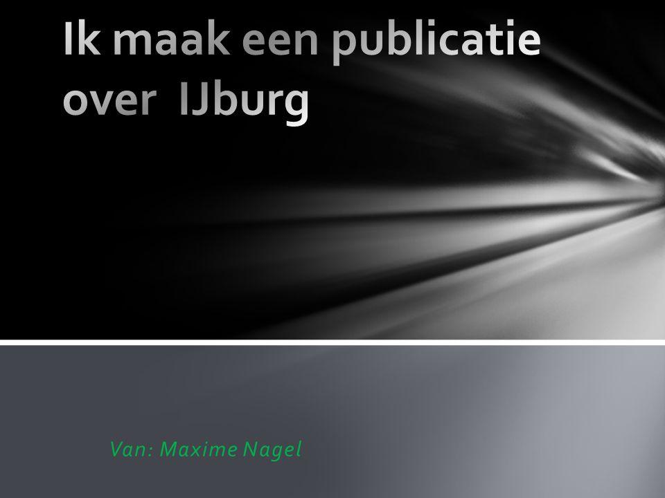 Ik maak een publicatie over IJburg