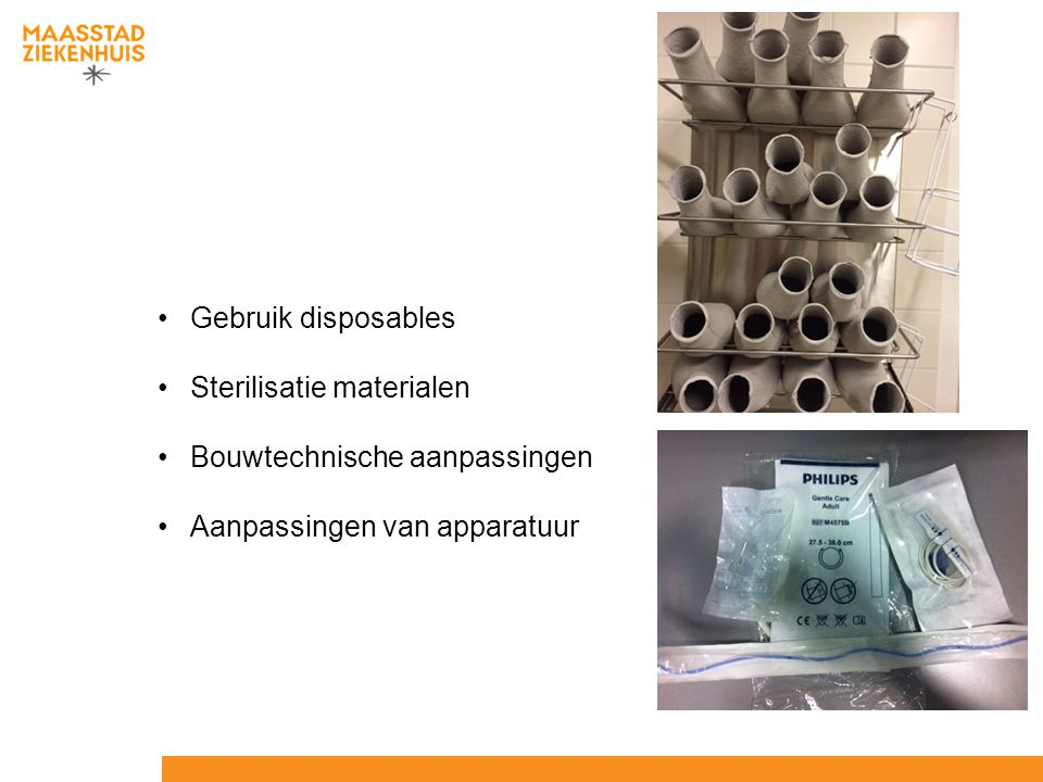 Sterilisatie materialen Bouwtechnische aanpassingen