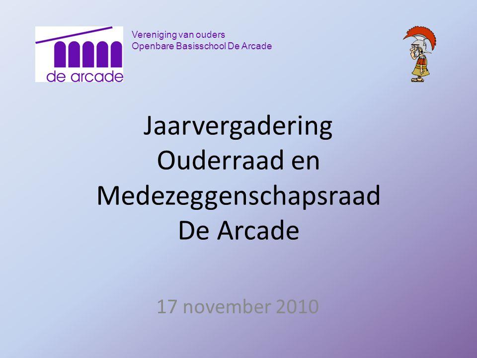 Jaarvergadering Ouderraad en Medezeggenschapsraad De Arcade