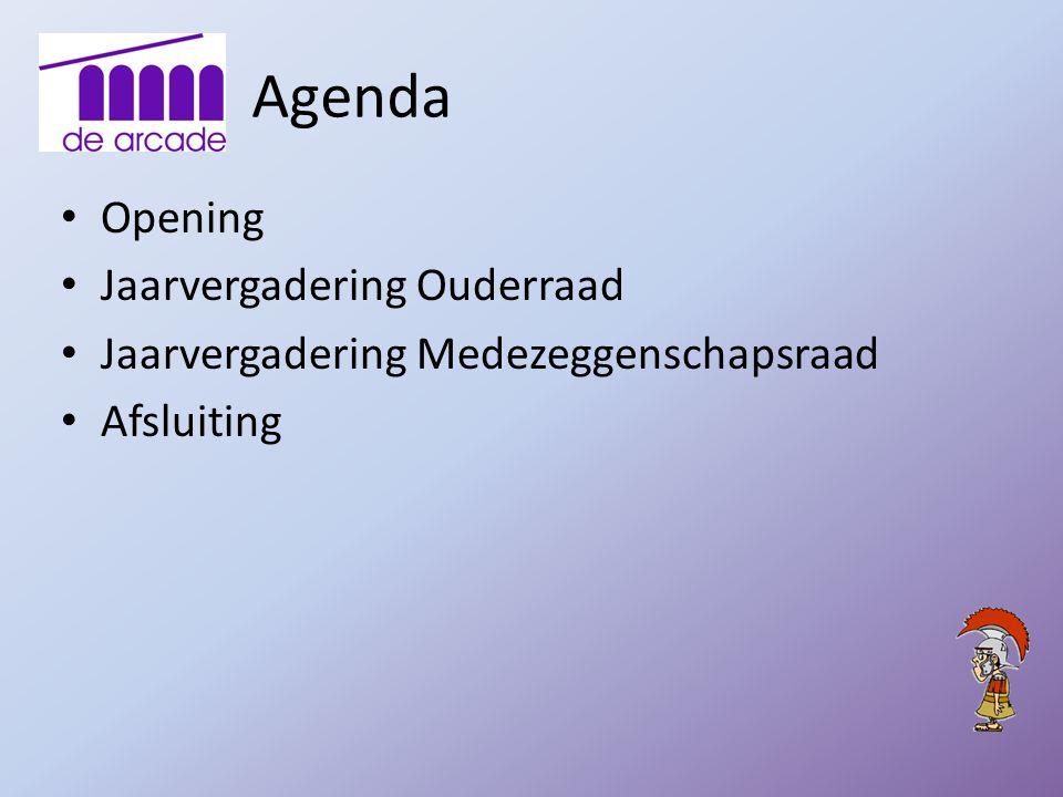 Agenda Opening Jaarvergadering Ouderraad