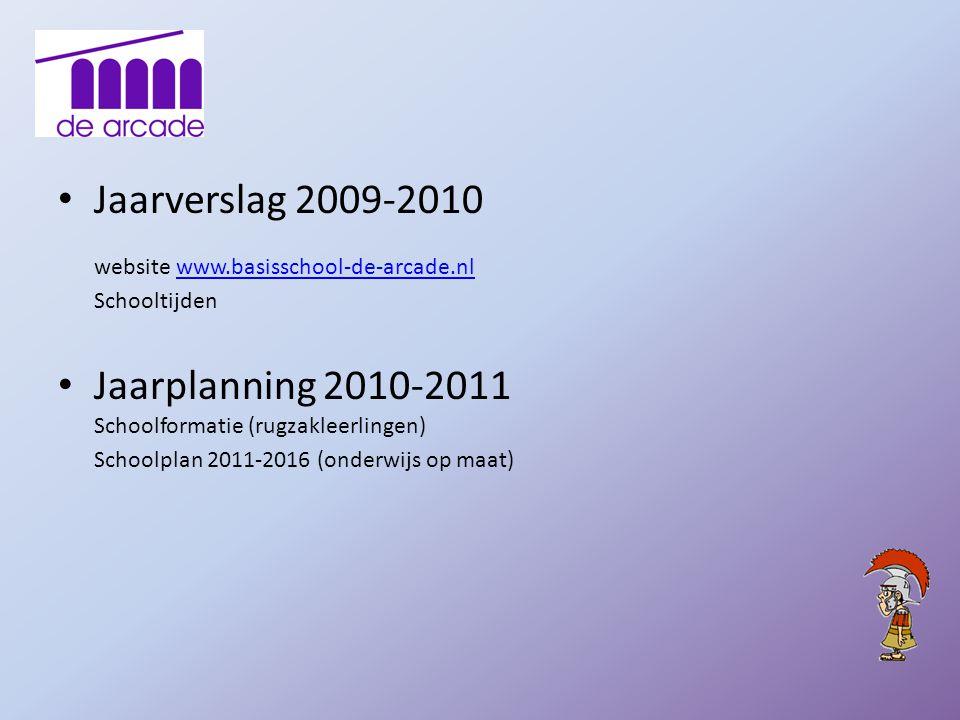 website www.basisschool-de-arcade.nl Schooltijden