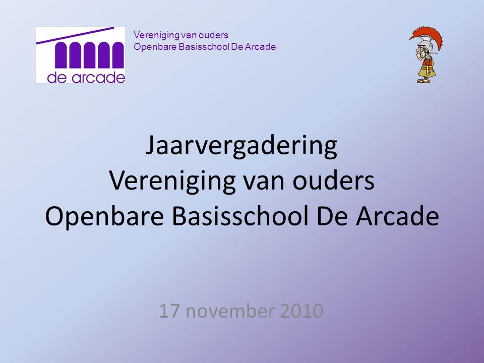 Jaarvergadering Vereniging van ouders Openbare Basisschool De Arcade