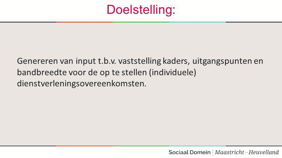 Doelstelling: